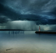 Storm Seascape by Mindaugas Zarys Art Print