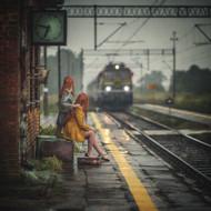 Train Station by Adamix Art Print