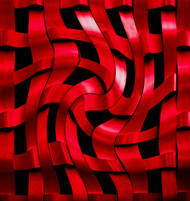 Red Ribbons by Harry Verschelden Art Print