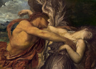 Orpheus and Eurydice by George Frederic Watts Premium Giclee Print