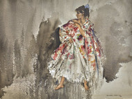 Cecilia in the Big Spanish Shawl by William Russell Flint Premium Giclee
