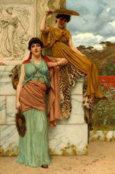 Waiting for the Procession by John William Godward Premium Giclee