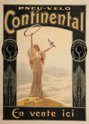 Continental Tires French Advertising Poster 1900