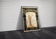 Continental Tires French Advertising Poster 1900 Framed