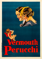 Vermouth Perucchi 1920s Advertising Poster