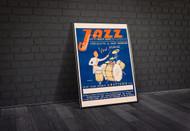 Jazz le sets Marcel Faivre 1940s French Vintage Poster Framed