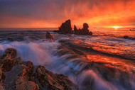 On Fire by Wenjie Qiao Seascape Print