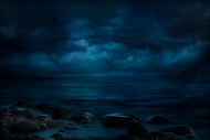 Moonlight Over Distant Shores by Willy Marthinussen Seascape Print