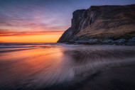 Glowing End of Day by Daniel F Seascape