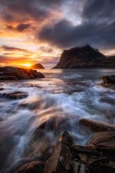 Northern Coast Sunset by Daniel F. Seascape