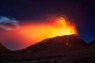La Fournaise Volcano by Baratheui Gabriel Landscape Print