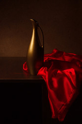 Still Life with Red Cloth by Magnola Art