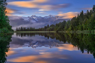 Lake Matheson by Hua Zhu Landscape Print