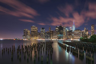 New York City at Night by Austin Landscape Print