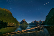 Night Sky of Milford Sound by Hua Zhu Landscape