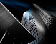 Velvet Blue by Holger Glaab Architecture Print