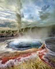 Grand Geyser Eruption by Ignacio Palacios Landscape Print