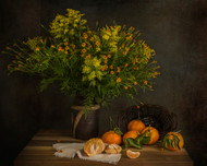Tangerines by Margareth Perfoncio Art Print