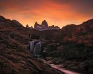 Waterfall Sunset by Yan Zhang Landscape Print