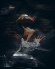 Digital Art by Natalia Simongulashvili Art Print