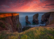 Last Light Over the Stack by Tomasz Janicki Landscape