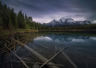 Herbert Lake by Juan de Pablo Landscape Print