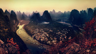The Karst Mountains of Guangxi by Clemens Geiger Landscape
