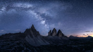Stars in the Dolomites by Daniel F Landscape Print