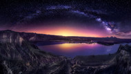 Milky Way Over Las Barrancas 2016  by Jesus M Garcia Landscape Print