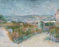 Vincent van Gogh Print Montmartre Behind the Moulin de la Galette