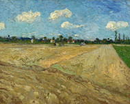 Vincent van Gogh Print Ploughed Fields the Furrows