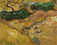 Vincent van Gogh Print Landscape with Rabbits