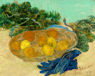 Vincent van Gogh Print Still Life of Oranges and Lemons with Blue Gloves