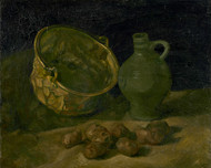 Vincent van Gogh Print Still Life with Brass Cauldron and Jug