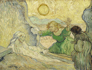 Vincent van Gogh Print The Raising of Lazarus After Rembrandt