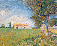 Vincent van Gogh Print Farmhouse in a Wheat Field