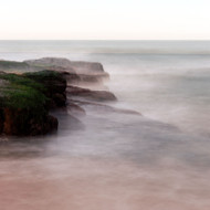 Seascape Print Eerie Rocks by Jeff Grant