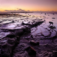 Seascape Print Long Reef Square Ledge  by Jeff Grant