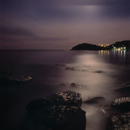 Seascape Print Manly Moon by Jeff Grant
