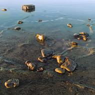 Seascape Print Rock Reflections by Jeff Grant