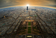 Paris by Jose C Lobato Landscape Print