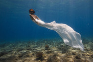 White Dress by Assaf Gavra Seascape Print