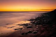 Seascape Print Sunset Calm by Jeff Grant