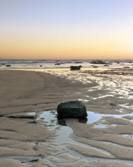 Beach Rock by Jeff Grant Seascape Print