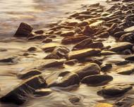 Long Reef Rocks Flat by Jeff Grant Seascape Print