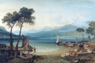 William Turner Print Lake Geneva and Mount Blanc