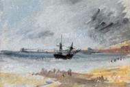William Turner Print Ship Aground Brighton