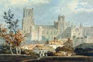 William Turner Print View of Ely Cathedral