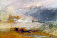 William Turner Print Wreckers Coast of Northumberland with A Steam Boat Assisting A Ship Off Shore