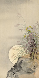 Full Moon Grass by Ohara Koson Japanese Woodblock